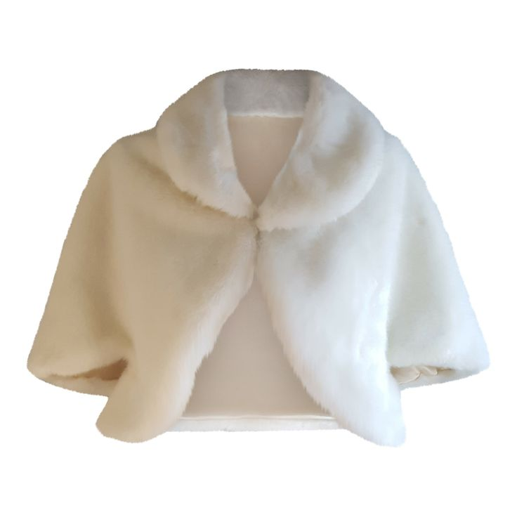 Faux Fur Wedding Jacket Ivory Bolero Shrug