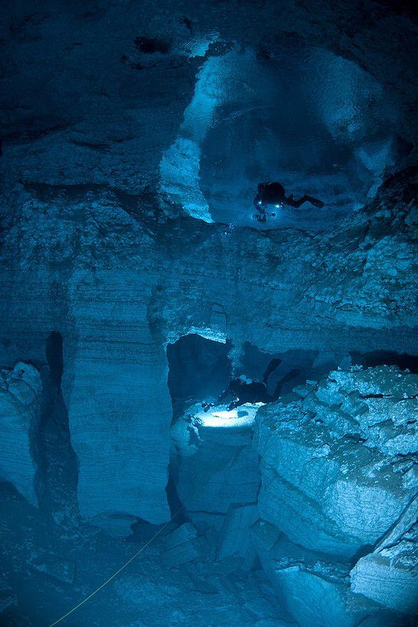 I'll do a lot of things, but I don't know about underwater cave exploration . . . I think I'd need a bravery buddy.