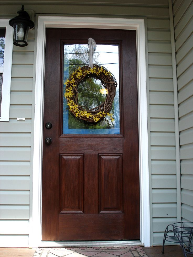 25 best ideas about front door makeover on pinterest painting front doors front door - Paint or stain fiberglass exterior doors concept ...