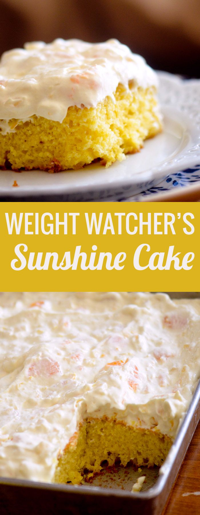Pineapple Sunshine Cake - a light and refreshing cake made with mandarin oranges and pineapple - Recipe Diaries