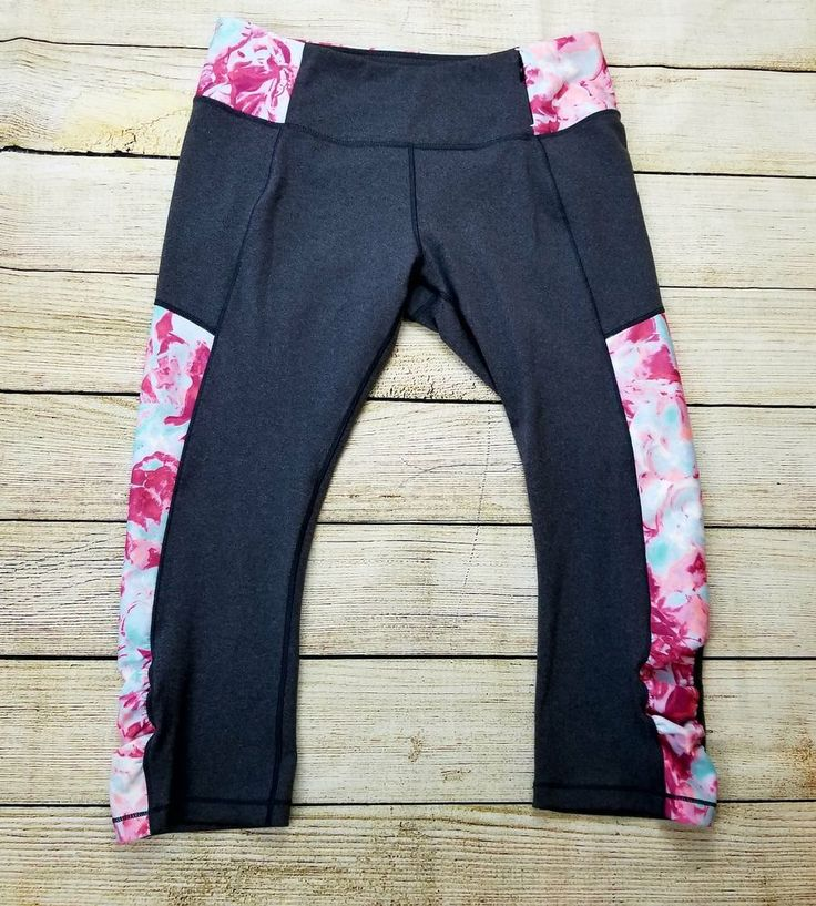 Calia By Carrie Underwood Women's ahletic Leggings Floral ruched large   Clothing, Shoes & Accessories, Women's Clothing, Athletic Apparel   eBay!