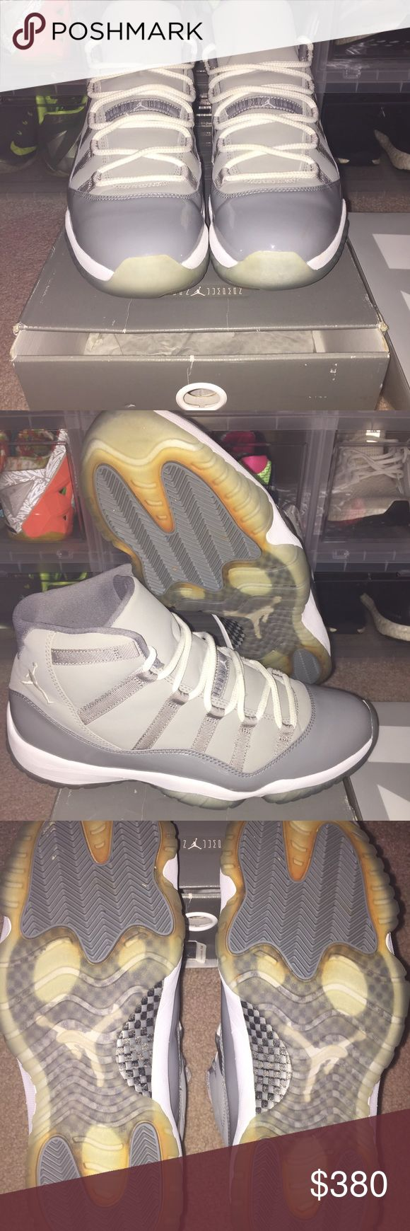 Jordan cool grey 11 OG all Jordan cool grey 11 wore 1x. 100% authentic Jordan Shoes Athletic Shoes