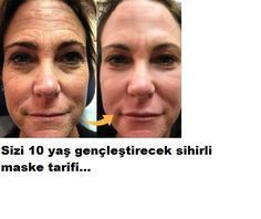Recipe for a magical mask that rejuvenates you for 10 years. - sağlik v ...  -  Hautpflege-Rezepte