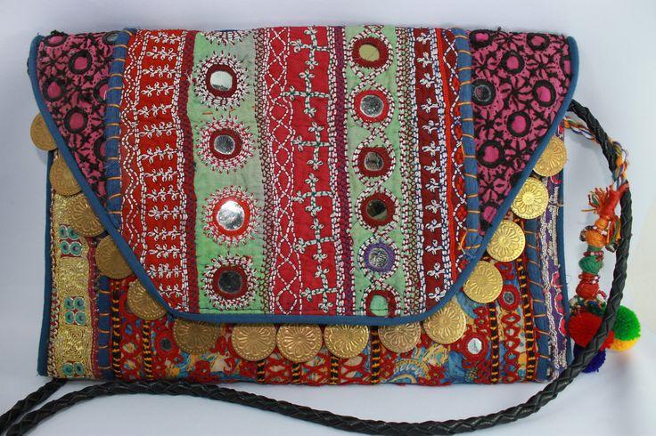 Bolso artesanal de la India. Precioso colorido