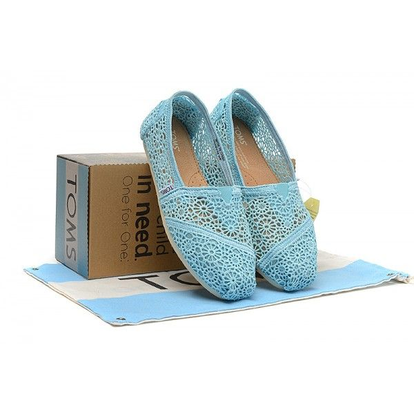 Sky-blue Crochet Womens Classics