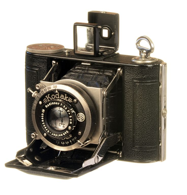 "Kodak Vollenda Type 48  Circa 1932  The #Vollenda Type 48 is an August Nagel design predating his popular and enduring #Kodak #Retina cameras released in 1934.  Kodak bought Nagel Camera Werks in 1931, which he had formed after leaving Zeiss.    The camera is extremely compact at 3"" x 4"" and when closed is only 1 ¼"" thick.    It produces a portrait oriented image on type 127 film.   See more vintage cameras at: http://web4homes.com/cameras"