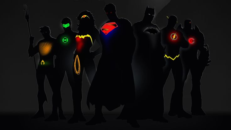 Glowing Superheroes