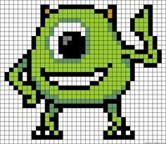Mike Monsters Inc. perler bead pattern