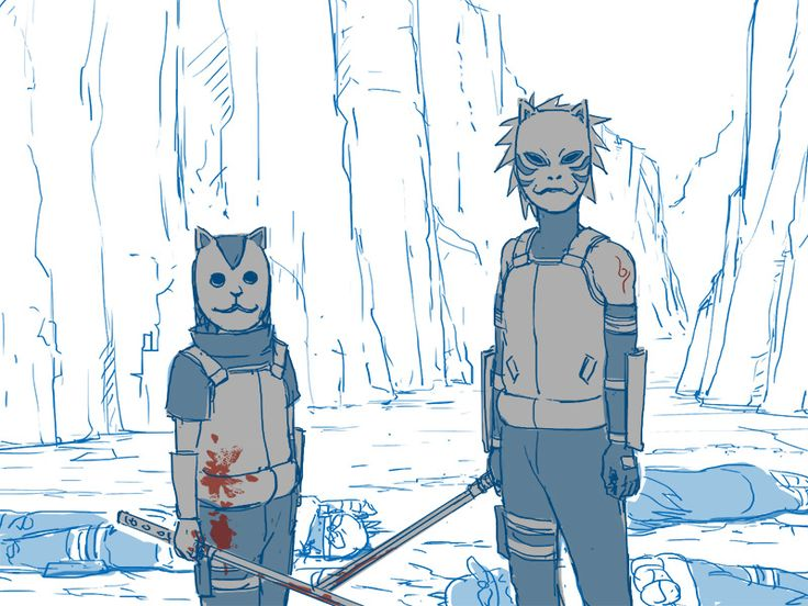 Itachi and Kakashi anbu