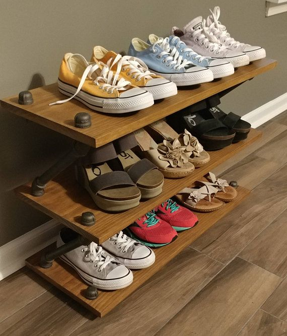 Welcome to a new style! This shoe stand is perfect for our customers who have a little less room but still lots of shoes!!! Best of all the top shelf can hold more shoes or anything else!  Its perfect for mudrooms, entryways, living rooms (great for books and collectibles) or even closets!  Additional levels can be added. Each level holds 3+ pairs This can be customized to fit your needs!!!! Just send us a custom order request.  The shoe stand ships flat with easy to follow instructions…