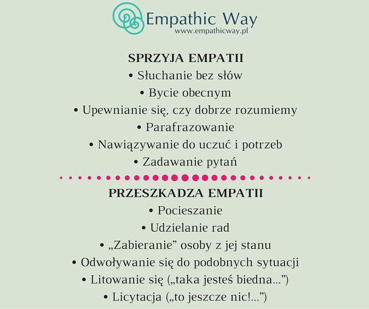 Co sprzyja empatii, a co nie? #nvc #porozumieniebezprzemocy #empatia #empathicway
