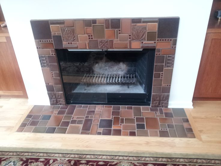 Fun Fireplace Design With Different Colors And Sizes Of