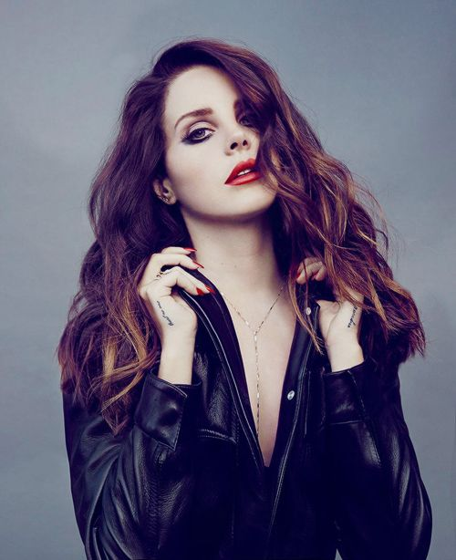 hair / makeup /nails / red lips / Lana Del Rey for Madame FigaroPhotograph by James White