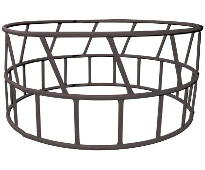 Available with a skirted or open bottom, our heavy duty round bale feeders are easy to assemble and are powder-coated grey.