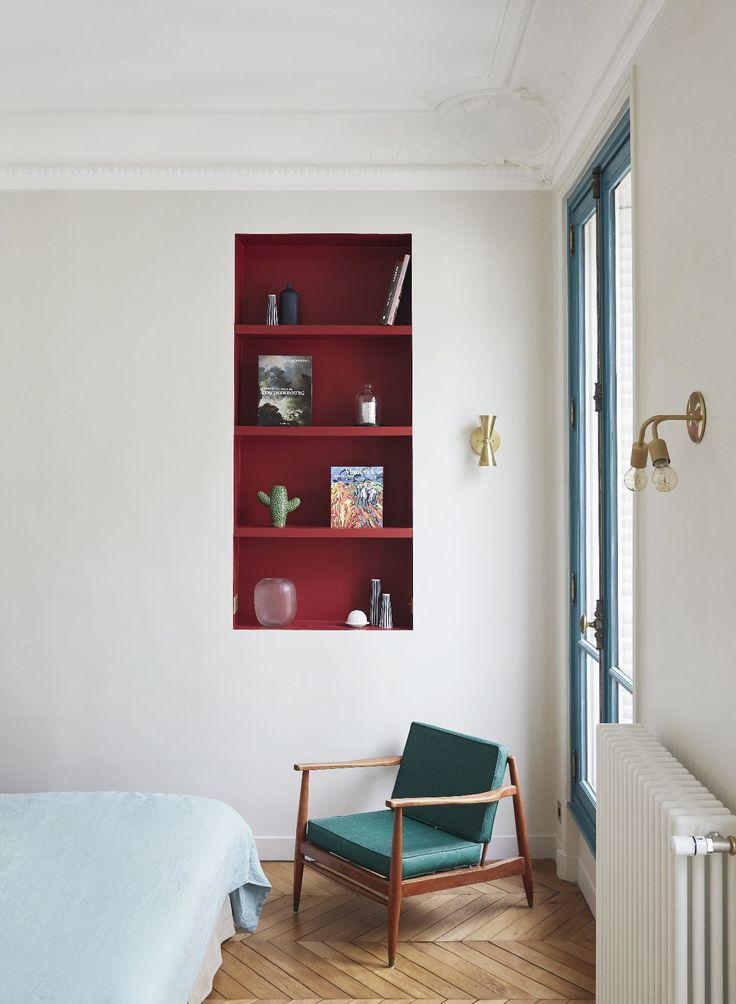 Chambre- Appartement parisien de 150m2 GCG Architectes