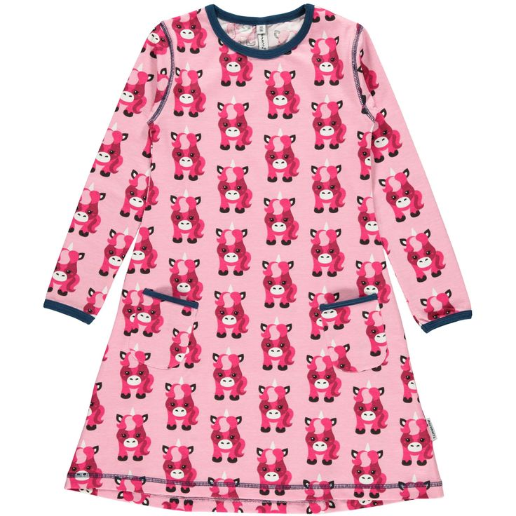 Unicorn Dress  from Maxomorra. Made from GOTS Certified Organic Cotton. Available at Modern Rascals.