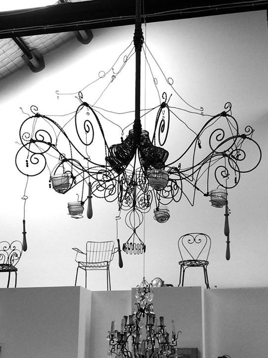 "A fun Wire Chandelier............the ""Mille Follie"""