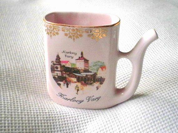 vintage Karlovy Vary Dalovice spa sipping mug by VeraseraVintage