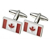 CANADIAN FLAG CUFFLINK. Maple leaf is the centre point on these eloquently designed cufflinks. These cufflinks are complemented with a beautifully designed Tie Pin too. http://www.stunningselection.com/canadian-flag-cufflink