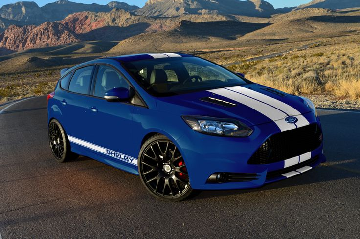 2013 Shelby Focus ST: Blue + White