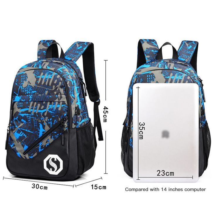 Fashion Teenagers Men Women's Pen Bag Backpack Luminous Student Sales Online camouflage - Tomtop.com
