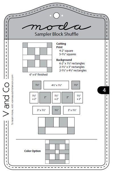 Moda Sampler Block Shuffle - Block 4
