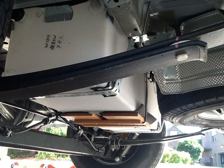 20 Gal Fresh Water Tank Located Just Aft Of The Rear Axle