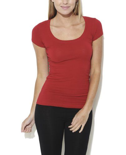 Wet Seal Women's Scoop Tee S Chilli Pepper  #WetSeal #Tops