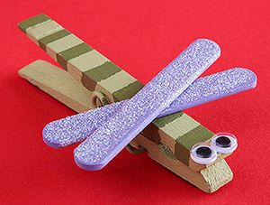 Magnetic Dragon Fly Clip Craft
