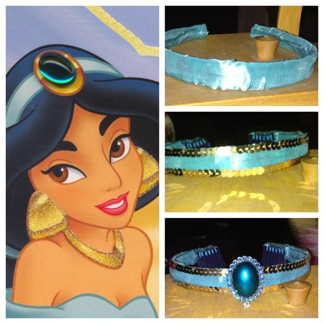 DIY princess jasmine crown                                                                                                                                                                                 Más