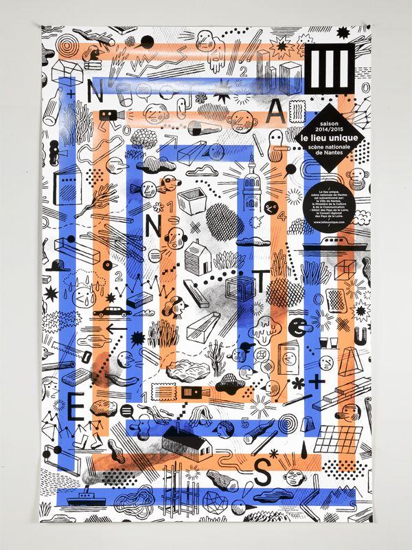 Affiche Lieu Unique 2014  Studio helmo