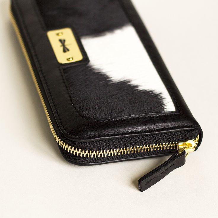 black leather & fur