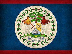 Belize Flag Art - Belize Flag Vintage Distressed Finish by Design Turnpike