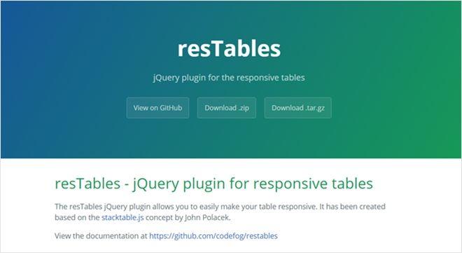 レスポンシブなtableの為のスクリプト・「resTables」 - かちびと.net