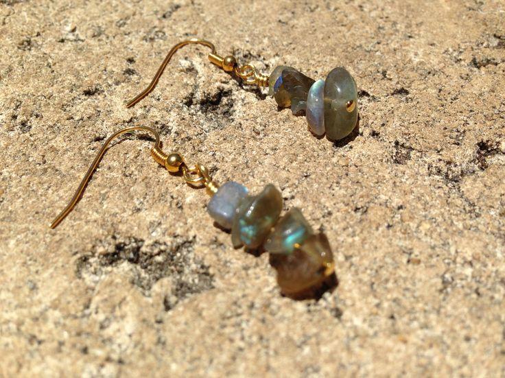 Labradorite crystal gemstone healing earrings. $5.95 via www.divineaura.com.au Or find me on facebook @ www.facebook.com/divineaura123 *****SOLD OUT*****
