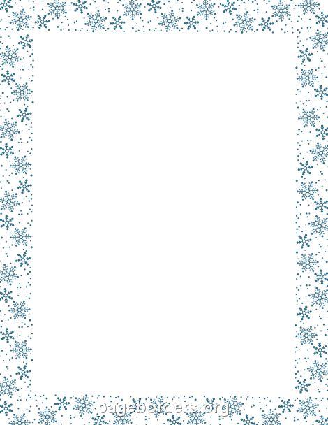 Snowflake Border                                                                                                                            Mais
