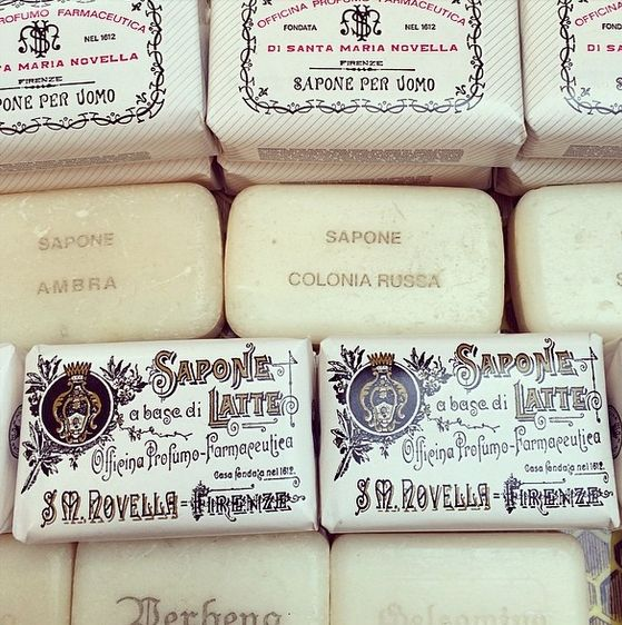 Santa Maria Novella. exquisite packaging. / @ SimoneLeBlanc on instagram.