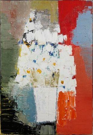 Nicolas de Staël, Fleurs blanches et jaunes,1953 on ArtStack #nicolas-de-stael #art