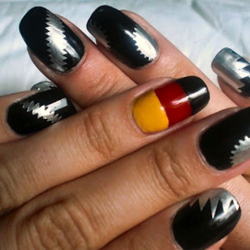 Complete World Cup Nail Art 2014 Gallery - #Trending Nails | #Trending Nail Art #germany