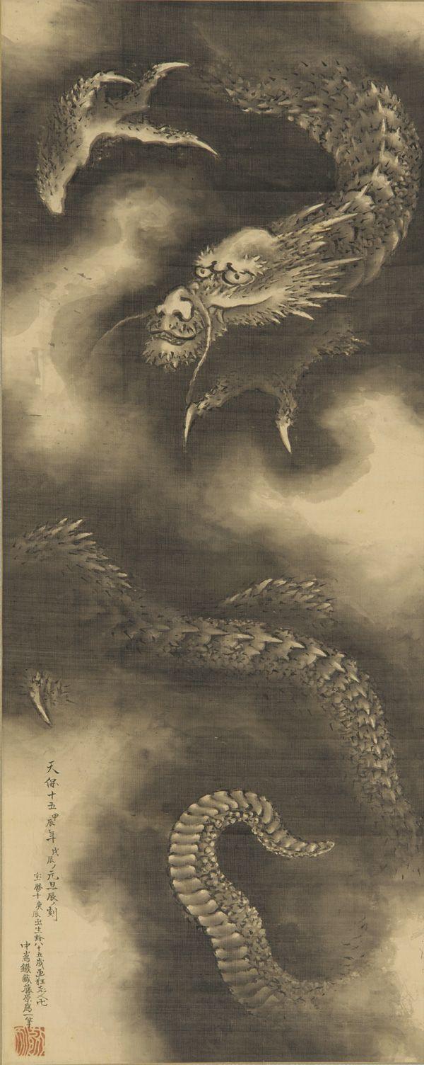 Dragon and clouds 1760-1849  Katsushika Hokusai , (Japanese, 1760-1849)  Edo period
