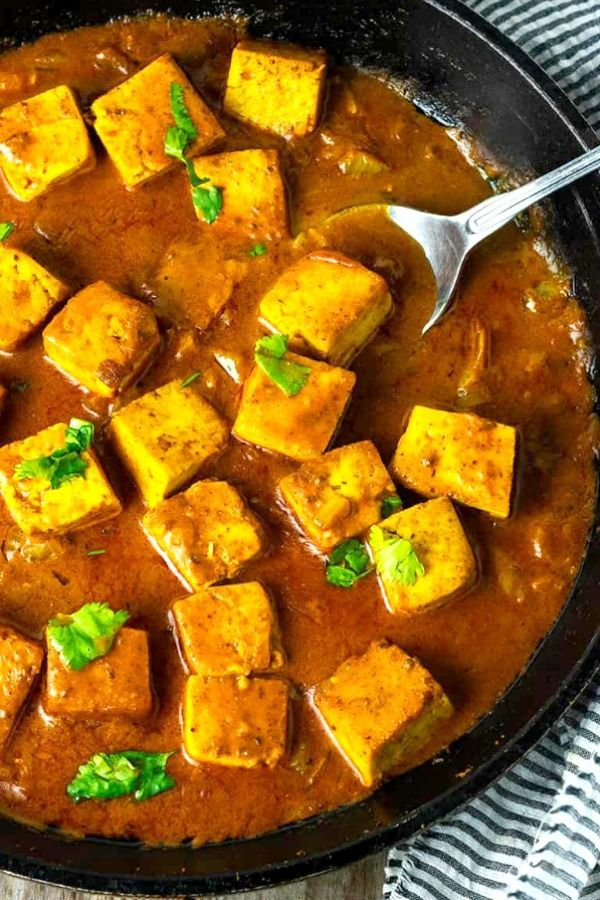 This Tofu Tikka Masala Is So Flavorful Seasoned Tofu Cubes Cooked