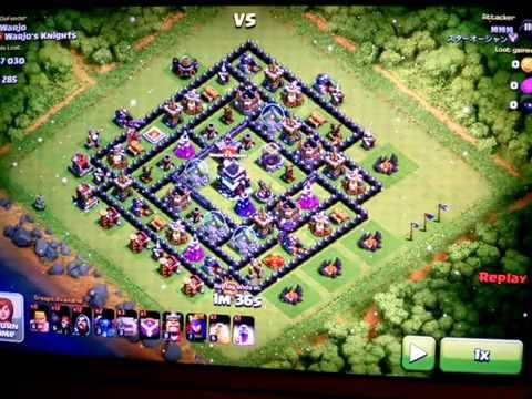 Clans of Clans - 49% Successful defense against a GO-WIPE attack!