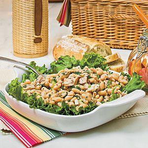 White Bean-and-Tuna Salad | MyRecipes.com: Salad Recipes, White Beans And Tuna, Healthy Maine, Dinners Recipes, Food, Beans And Tuna Salad, Beans Salad, Summer Salads, Maine Dishes Salad