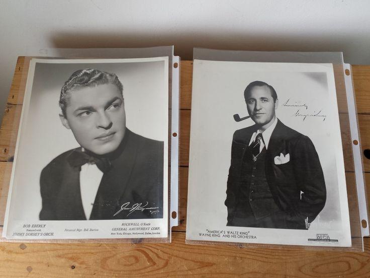 Vintage Musician Promo Headshots w/ Autograph