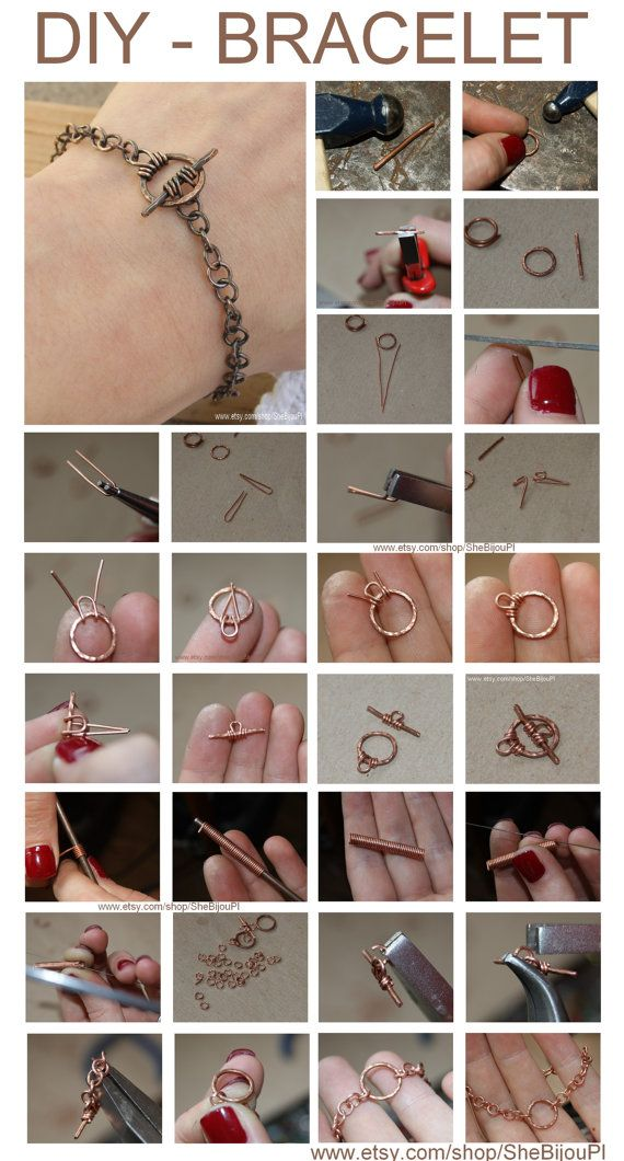 free TUTORIAL  copper bracelet DIY bracelet by SheBijouPl on Etsy