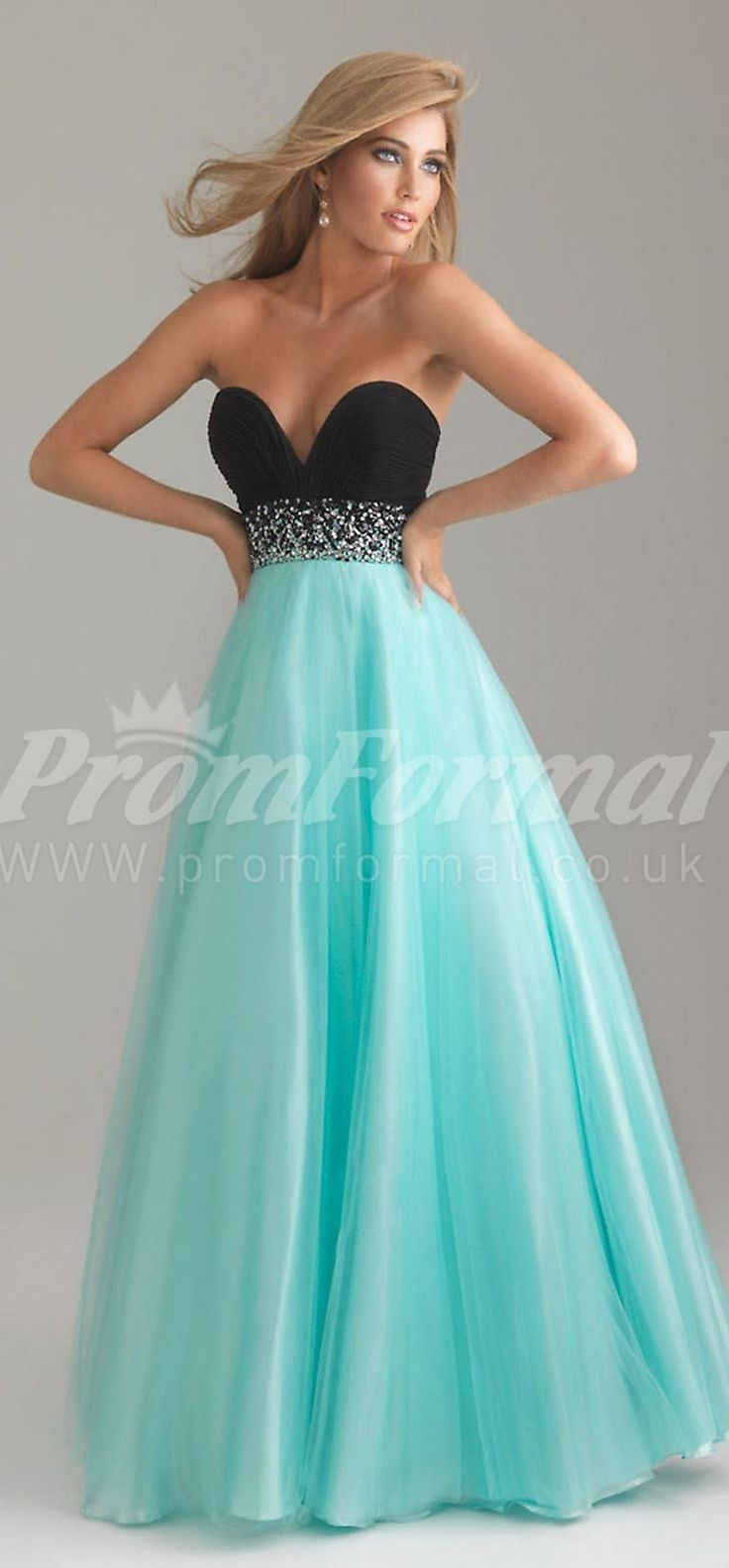 Light Blue A-line Prom Dress at promuk.co.uk