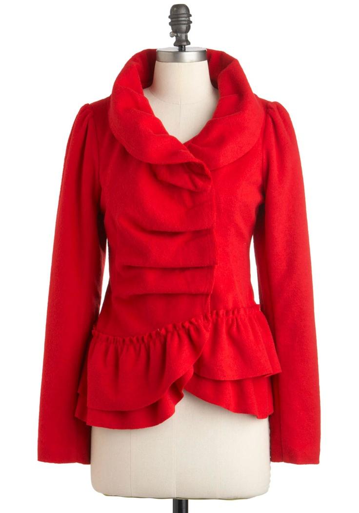 Victorian: Modcloth Jackets, Fashion, Coats Jackets, Clothing Accessories, Cayenne Zen, Fall Jackets, Red Jackets, Zen Jackets, Modcloth Com