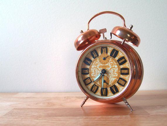 Vintage Copper Alarm Clock