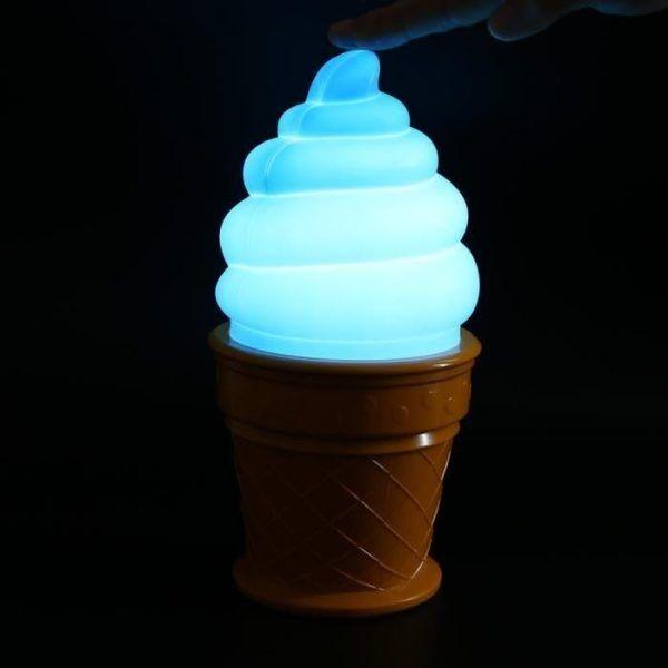 I scream you scream we all scream for ice cream. Now that I got that out of the way check out this ice cream desk lamp.