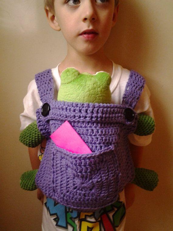 Crochet Baby Doll CarrierMei Tai by CrazyLeggies on Etsy